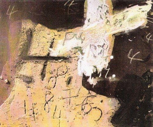 Tàpies, ocre, marron et blanc... dans ceci n'est pas soldé TAPIES-Ocre-marron-et-blanc-aux-quatre-19724